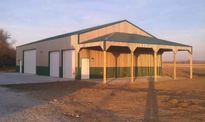 Pole Barns can be built on any property and without the need for ...
